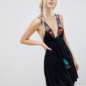 Free People Dresses - NWT FREE PEOPLE BLACK EMBROIDERED DRESS * RESTOCK!